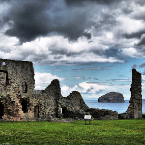 Tantallon Castle  by Paul Stevenson - City,  Street & Park  Vistas ( east coast, scotland, bass, tantallon, rock, castle )