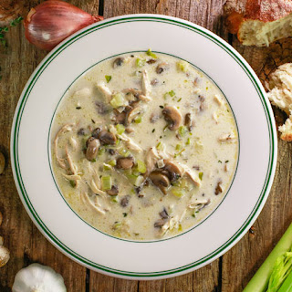 Cream of Chicken and Roasted Garlic Soup