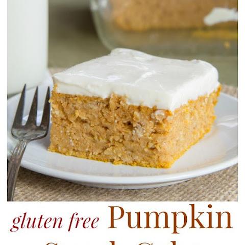 Gluten Free Pumpkin Snack Cake