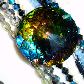 Circle of light by Memes Jewel - Artistic Objects Glass ( colors, glass, jewelry, beads, rainbow, blues )