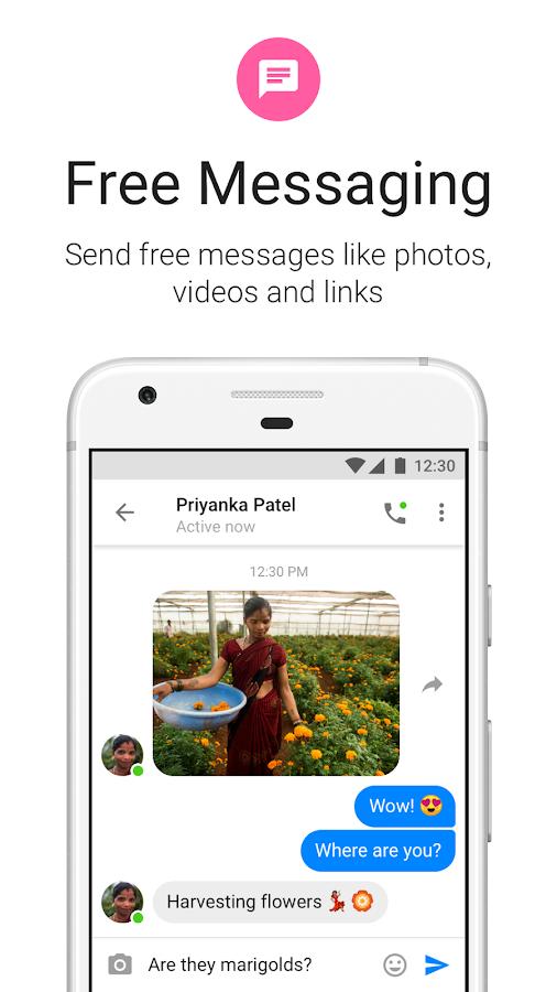 Messenger Lite: Kostenlose Anrufe & Nachrichten android apps download