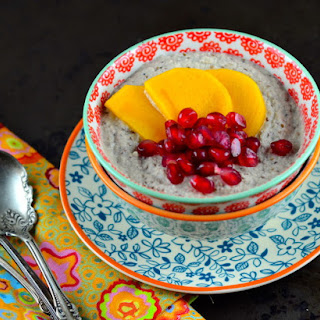 "Home Made Paleo Almond ""Yogurt"" with Persimmons & Pomegranates"