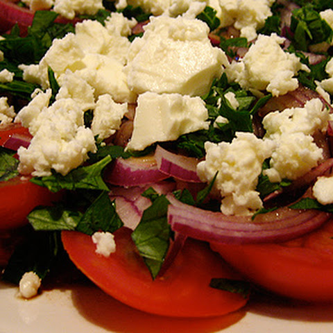 Tomato, Red Onion and Feta Salad
