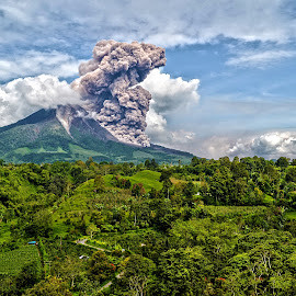 Two Years Ago by Kriswanto Ginting's - Landscapes Mountains & Hills ( volcano, mount, now, indonesia, landscape photography, landscape, sinabung )