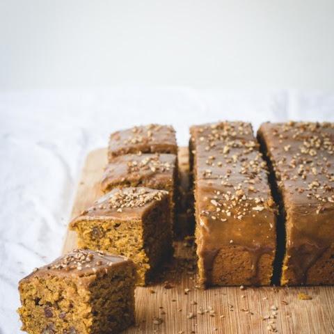 Pumpkin Spice Bundt Cake with Salted Caramel Sauce Recipe | Yummly