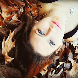 Autumn by Cheri Allison - Novices Only Portraits & People ( girl, nature, autumn, fall, leaves, portrait )