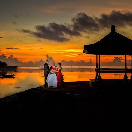 Sunrise  Wedding  by Dean Bali  - Wedding Bride & Groom ( wedding, destination wedding photos, bride and groom, sunrise, bali wedding )