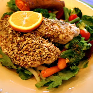 Crusted Tilapia with Cocnut Almonnds