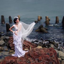 Brides by the sea by Danny - - Wedding Bride ( model, brides, mood, photoshoot, bride )