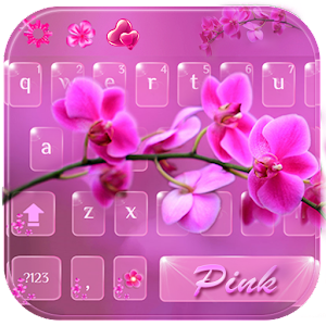 Download Pink orchid Keyboard Theme For PC Windows and Mac