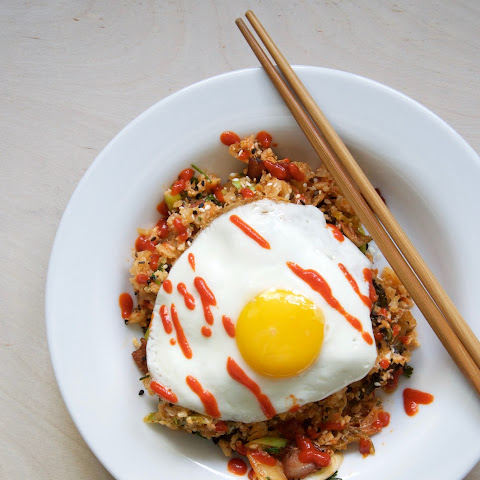 Bacon + Kimchi Cauliflower Fried Rice