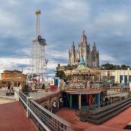 Tibidabo 2 by Dragica Šilak - City,  Street & Park  Amusement Parks ( amusement park, barcelona, tibidabo )
