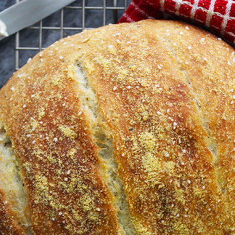 Olive Oil & Italian Herb Dutch Oven Bread