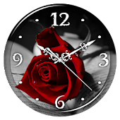 App Red Rose Clock Live Wallpaper APK for Kindle