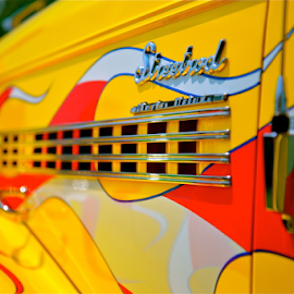 Too Hot by Dave Feldkamp - Transportation Automobiles ( street rod, flames, red, cars, white, grille, yellow, hot rod )