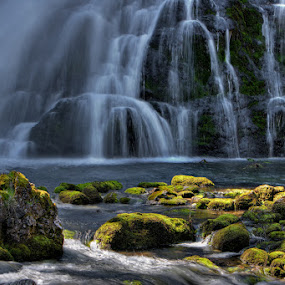 Light And Water by Henrik Spranz - Nature Up Close Water ( water, mountains, flowing, ature, waterfall, rocks, austria )