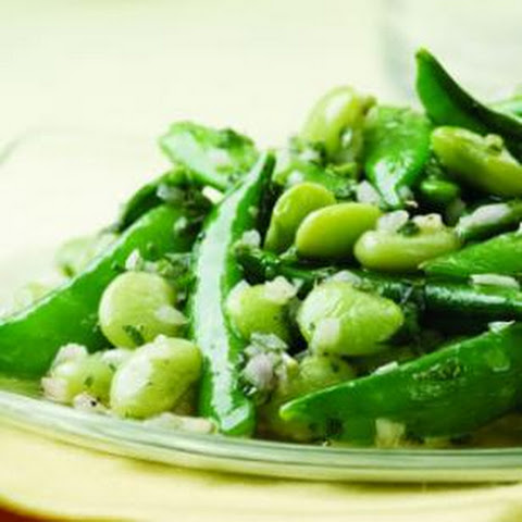Lemon-Mint Snap Peas & Lima Beans