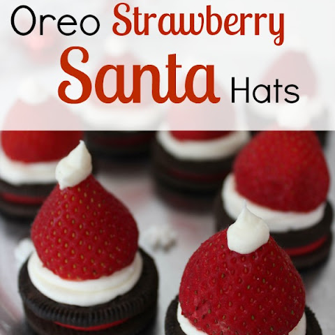 Oreo Strawberry Santa Hats