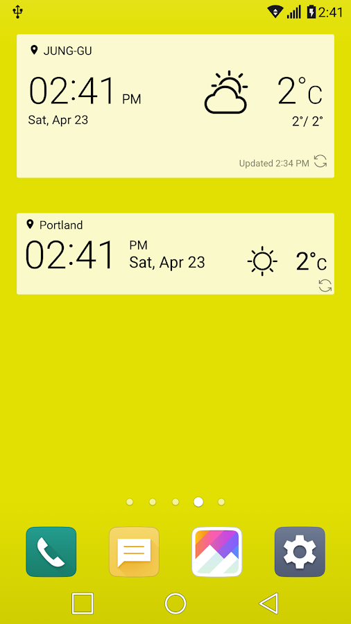 UX 5.0 G5 for Zooper Widget Screenshot 6