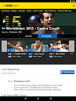 Screenshot of BBC Sport