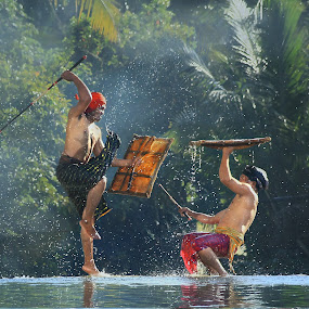 Presean culture of Indonesia  by Achepot Chepot - People Fine Art