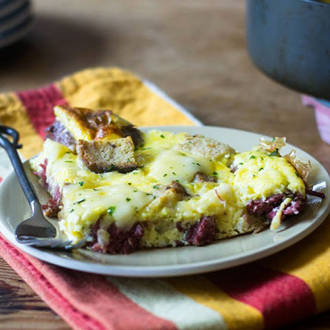 Corned Beef and Swiss Cheese Frittata