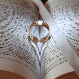 Ring of Love by Peter Salmon - Artistic Objects Jewelry ( love, ring, heart, pages, book )