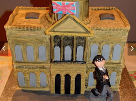 Liverpool Town hall shaped cake