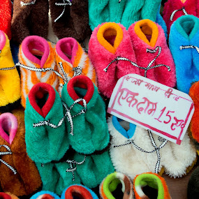 Colorful Feet by Jatin Malhotra - Artistic Objects Clothing & Accessories ( colors, rs, feet, 15, shoe )