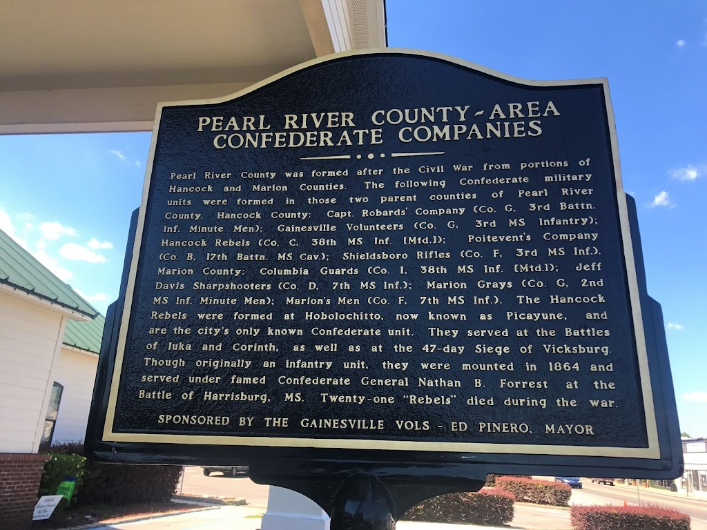 Pearl River County was formed after the Civil War from portions of Hancock and Marion Counties. The following Confederate military units were formed in those two parent counties of Pearl River ...
