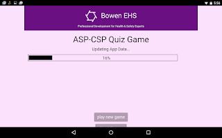 Screenshot of ASP-CSP Quiz Game