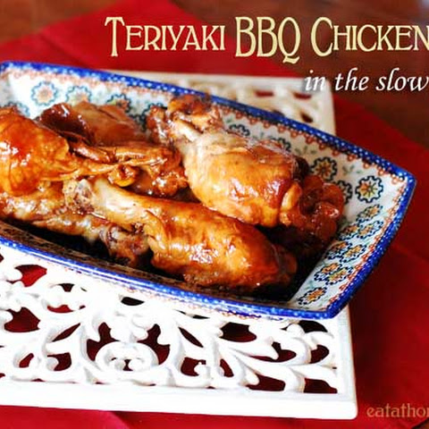 Teriyaki BBQ Chicken Legs in the Slow Cooker