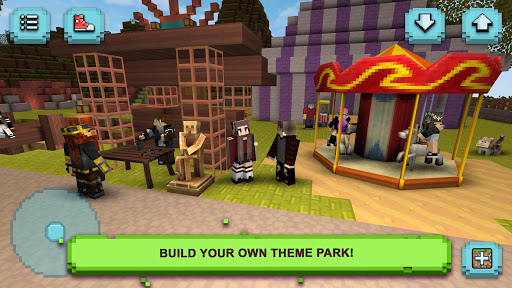 Theme Park Craft: Build & Ride screenshot 5