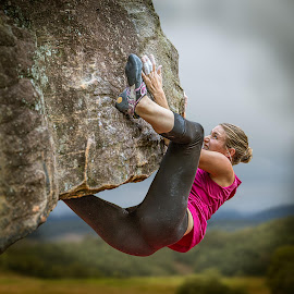 Dont Slip 2 by Paul Milliken - Sports & Fitness Climbing ( climbing, dont slip, girl power, bouldering )