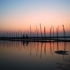 AFTER SUNSET 2 by Dipankar Singha - Landscapes Sunsets & Sunrises