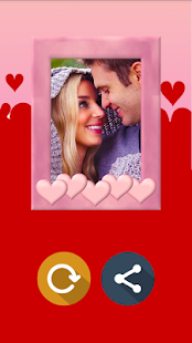 Romantic Heart Photo Frame - screenshot