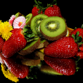 fruits with flowers by LADOCKi Elvira - Food & Drink Fruits & Vegetables ( fruits )