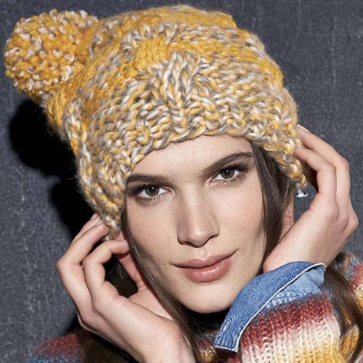Вязание шапок нет из ниток меланж 87