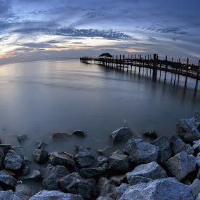 by Fairuzee Ramlee - Landscapes Waterscapes ( jetty )