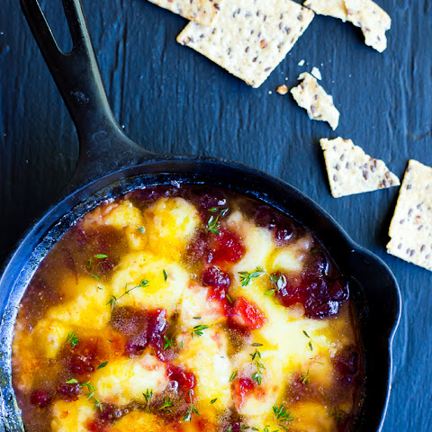 White Cheddar and Cranberry Skillet Dip