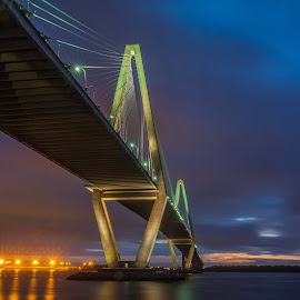 Arthur Ravenel Jr. Bridge by Sarah Shinners - Buildings & Architecture Bridges & Suspended Structures ( charleston, harbor, long exposure, bridge, nikon, south carolina, river )