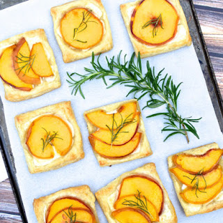Peach, Rosemary, & Brie Tartlets
