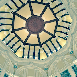CEILING by Carina de Pano - Buildings & Architecture Other Interior ( transport system, interior, building, rail station, station, art, grand buildings, architecture, artwork, old buildings, japan, details, tokyo, intricate details, when in japan )
