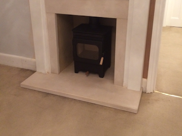 Log burner installation