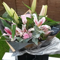 Stylish lily hand tied bouquet - The Florist Tunbridge Wells