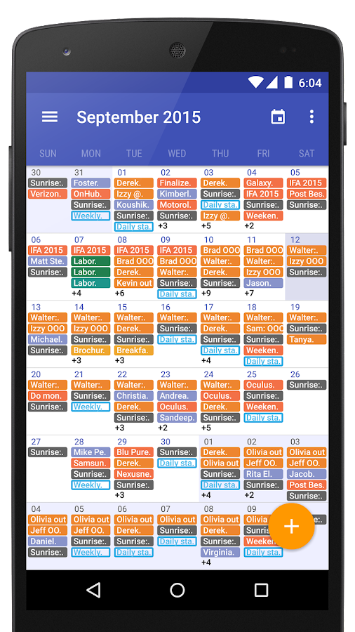 Today Calendar 2016 Screenshot 6