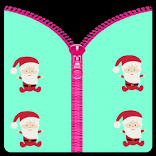 Baby Santa Zipper Lock Screen