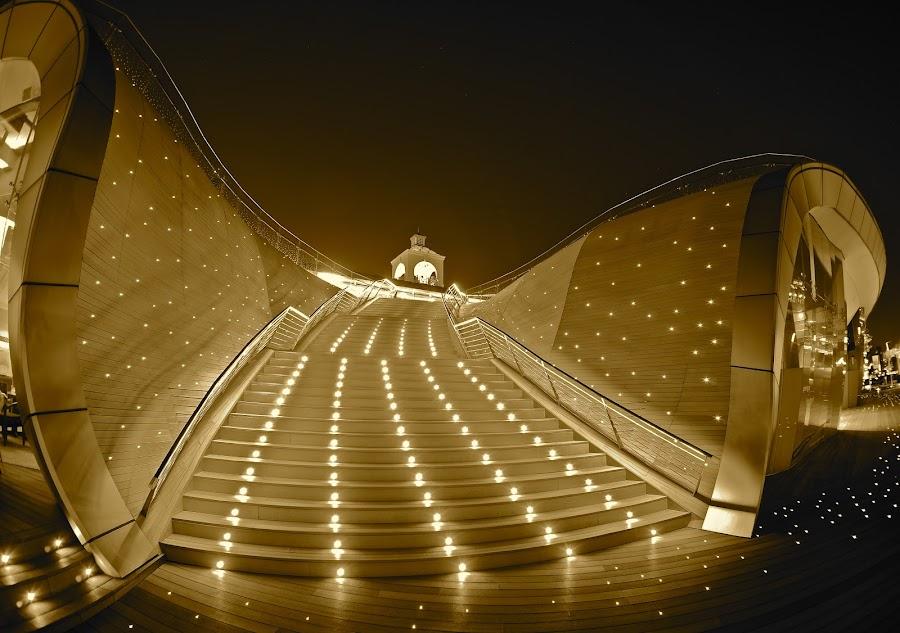 Glowing boardwalk by Sim Kim Seong - Landscapes Travel