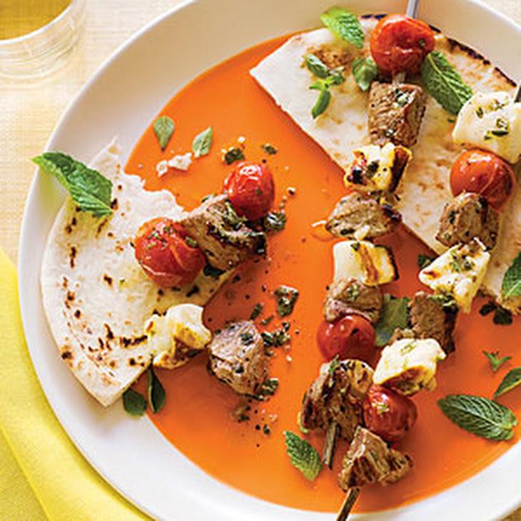 Grilled Lamb and Halloumi Kebabs Recept | Yummly