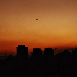 afternoon after sunset in Sao Paulo Brazil by Marcello Toldi - City,  Street & Park  Vistas